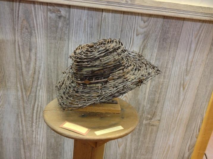 Barbed wire cowboy hat