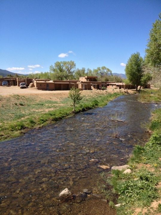 Creek running through Taos Pueblo