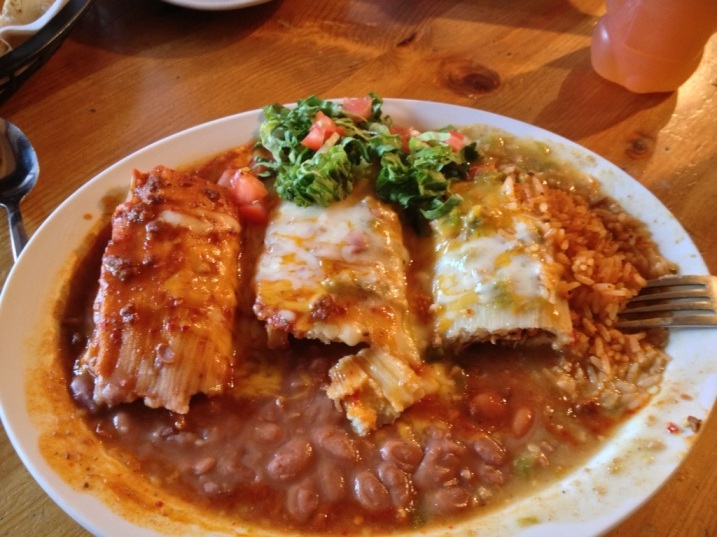 Ranchos Plaza Grill Tamale Plate