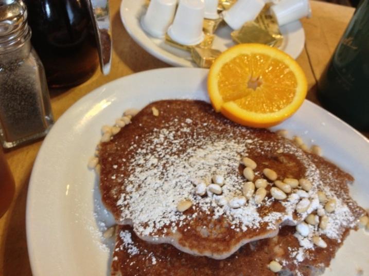 Atole-Piñon Pancakes Michael's Kitchen Taos