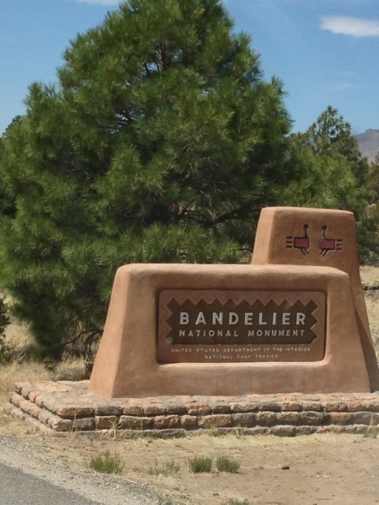 Arriving at Bandelier National Monument