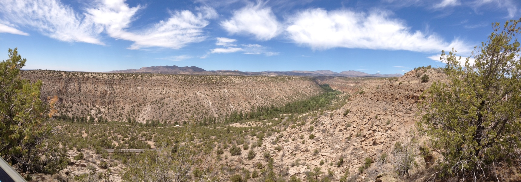 Scenic overlook at Bandelier