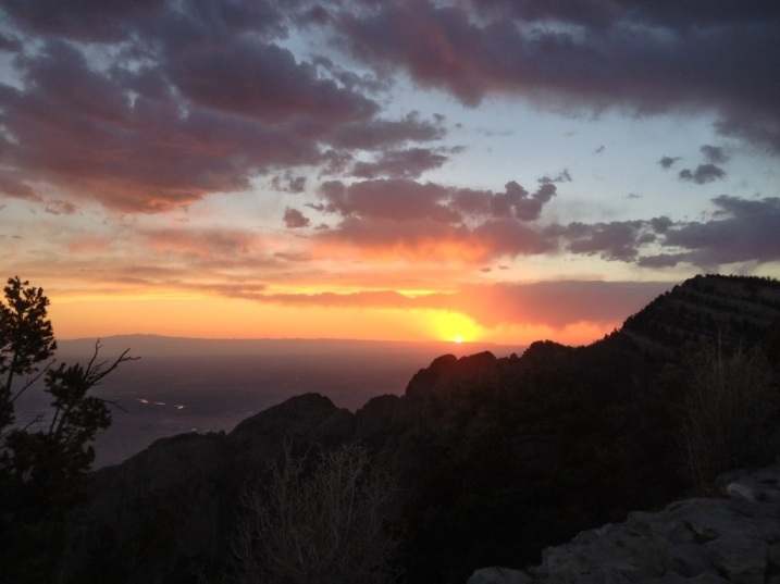 Glorious Sunset at Sandia Peak