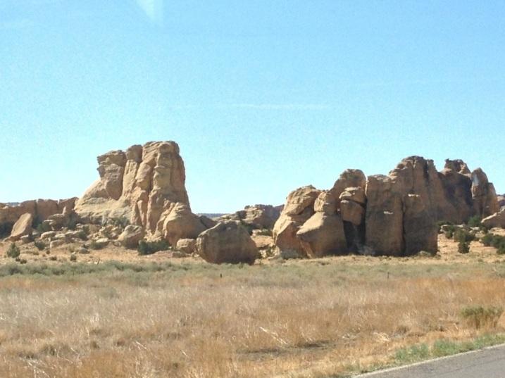 Rock formations Acoma