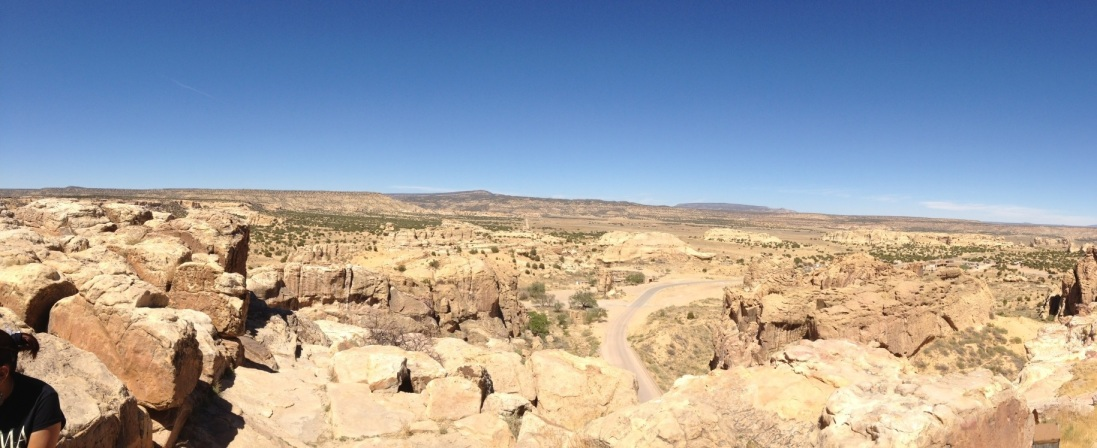 Panoramic view from Acoma