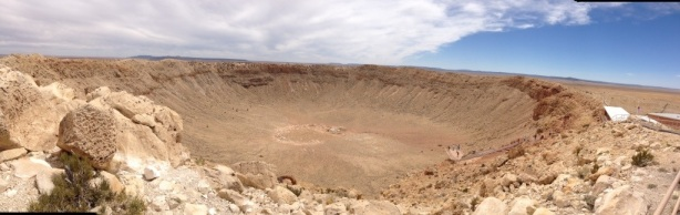 Incredible, Enormous Meteor Crater near Winslow, AZ