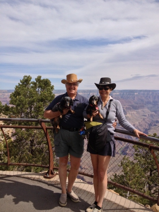 Family picture on the South Rim