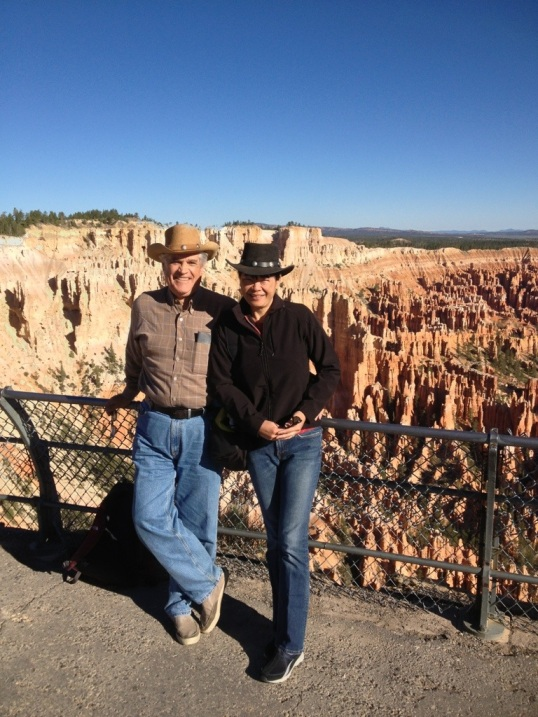 Tom and Mahgrit at Bryce Point