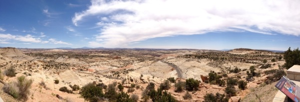 Incredible vista in Escalante National Monument