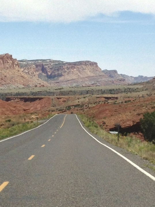 Open road to Capitol Reef