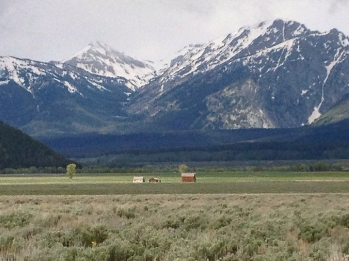 Mormon Village w/Teton Backdrop