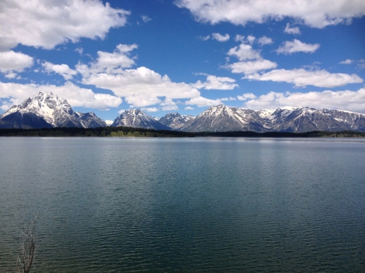 Jackson Lake reflecting the Tetons