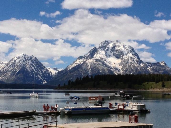 Picnic spot at Jackson Lake