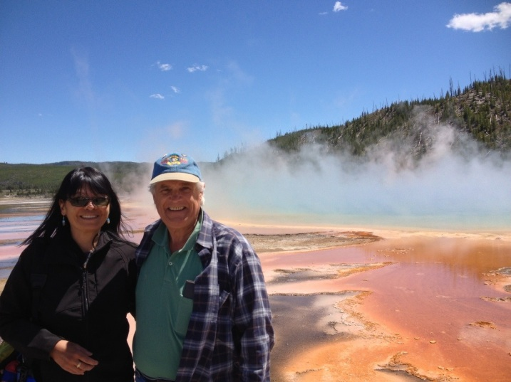 At the Grand Prismatic Spring