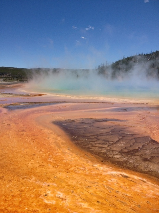 Brilliant color at the Grand Prismatic Spring