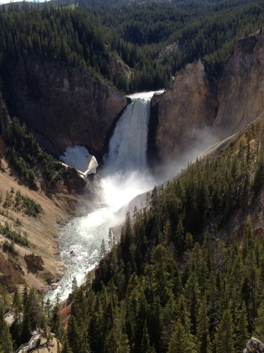 Beautiful Waterfall in Yellowstone