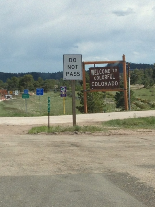 Welcome (?) to Colorful Colorado