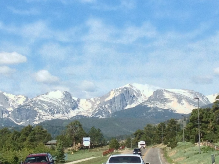 On the way to Rocky Mountain National Park