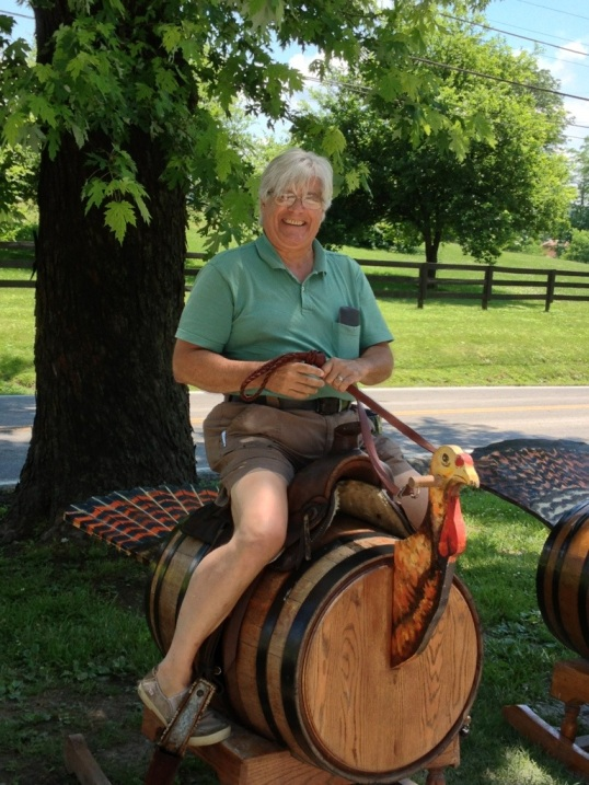 Tom riding the Wild Turkey!