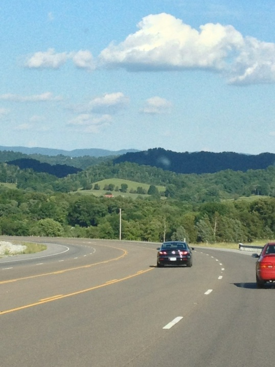 One of today's open roads. Beautiful Tennesse hills.