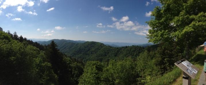 Blue skies, Smoky Mountains.