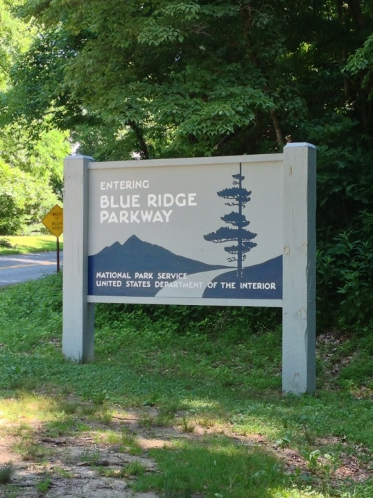The Southern end of the Blue Ridge Parkway