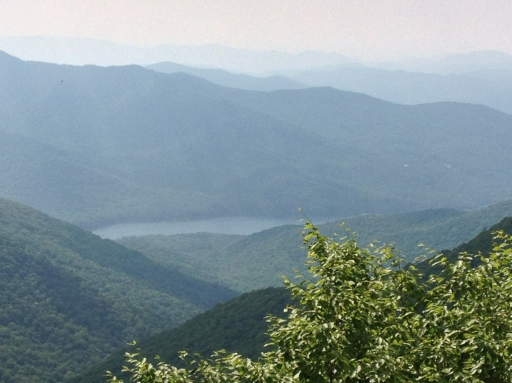Smoky blue mountains and a beautiful vista