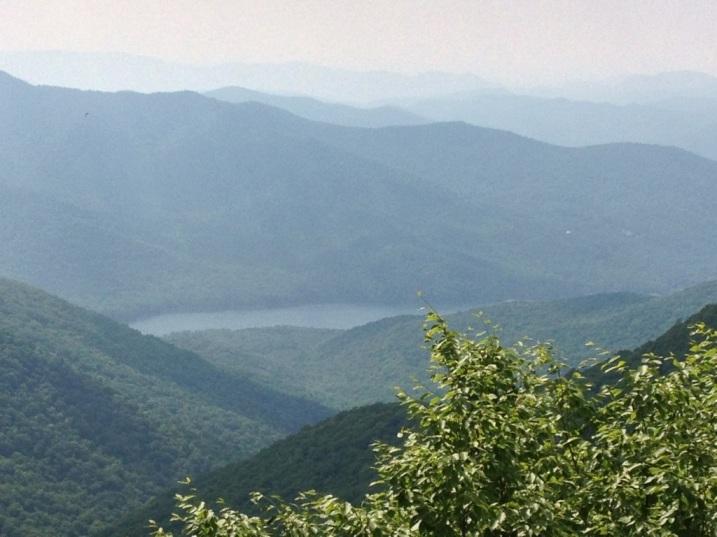 Smoky blue mountains and a beautiful vista